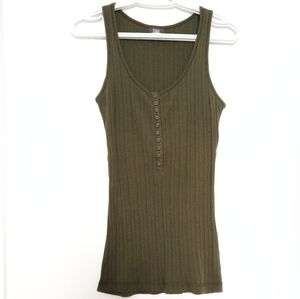 The North Face TNL Olive Green Tank Top